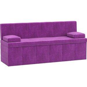 Кухонный диван АртМебель Лео микровельвет фиолетовый