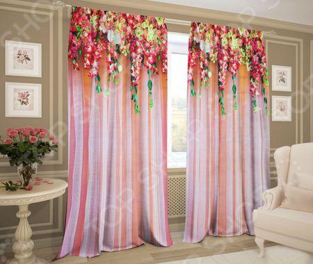 Комплект штор ТамиТекс «Ламбрекен из цветов» «Ламбрекен из цветов»
