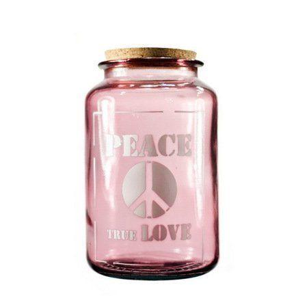 771999292c82 Vidrios San Miguel Банка для сыпучих Peace true love (3.1 л), 15х25 см,  розовая 5265_1F309