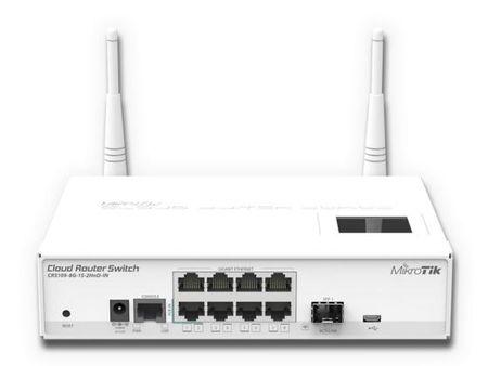 Фото Маршрутизатор Mikrotik CRS109-8G-1S-2HnD-IN 8x10/100/1000Mbps 1xSFP 1xmicroUSB Wi-Fi. Купить в РФ