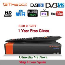GTMedia V8 Nova Full HD DVB-S2 Satellite Receiver 1 Year Europe Cccam 7  line Same Freesat V9 Super Upgrade From Freesat V8 Super