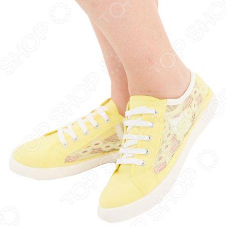 Здесь можно купить «Ева». Цвет: желтый  Кеды АЛМИ «Ева». Цвет: желтый <![CDATA[Кеды]]>