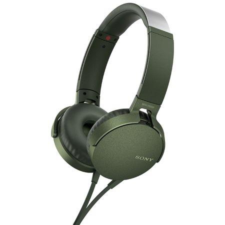Купить Наушники накладные Sony XB550AP Extra Bass Green (MDRXB550APGC(Е))