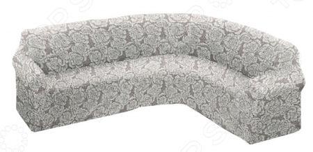 Натяжной чехол на классический угловой диван Еврочехол Еврочехол «Виста. Грация»