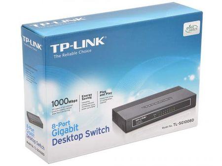 Фото Коммутатор TP-LINK TL-SG1008D 8-ports 10/100/1000Mbps. Купить в РФ