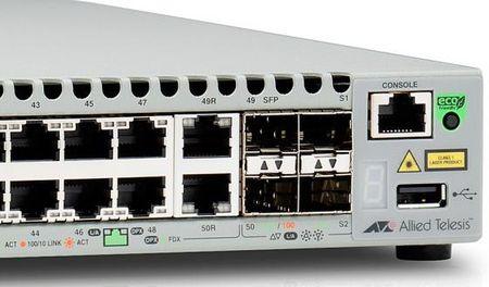 Фото Коммутатор Allied Telesis AT-GS948MX-50 управляемый 48 портов 10/100/1000Mbps 2xSFP. Купить в РФ