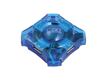 Фото Концентратор USB 2.0 CBR CH-127 4 x USB 2.0 голубой. Купить в РФ