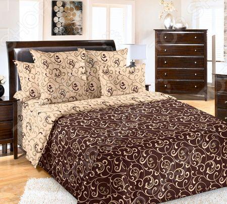Комплект постельного белья Королевское Искушение «Вензель». Тип ткани: сатин «Вензель». Тип ткани: сатин