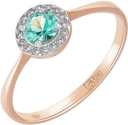 09c28b5e3243 Золотое кольцо с натуральным изумрудом и мерцающими бриллиантами, добавит  притягательную изюминку вашему образу. Материал  красное золото 585 пробы.